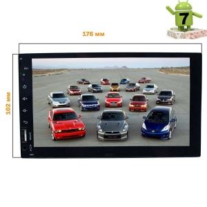 Магнитола 2 DIN универсальная LeTrun 2865 Android 7.x Alwinner T3