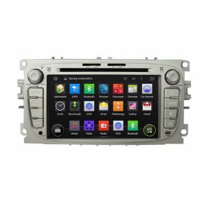 Carmedia KD-7052 Головное устройство на Android 5.1.1 (обновление до версии 7.1) для Ford Focus II, Mondeo, S-MAX, Galaxy, Tourneo/Transit Connect серебро