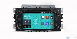 Штатная магнитола Parafar 4G/LTE для Ford Focus 2, Mondeo, Galaxy, C-Max, S-Max c DVD (универсальная) черный на Android 7.1.1 (PF148D)