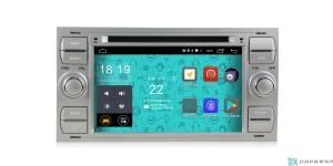 Штатная магнитола Parafar 4G/LTE для Ford Kuga, Fusion, C-Max, Galaxy, Focus c DVD (универсальная) серебро на Android 7.1.1 (PF149D)