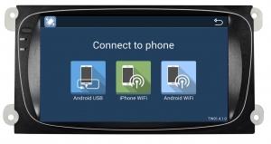 Штатное головное устройство Android 6.0 Carmedia DAFT-5695 для FORD Focus II, Mondeo, S-MAX, Galaxy, Tourneo/Transit Connect черный