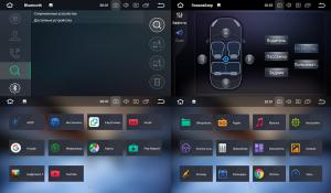 Штатное головное устройство для FORD Focus II, Mondeo, S-MAX, Galaxy, черный на Android 8.0 Carmedia KDO-7053