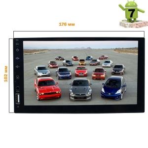 2 DIN универсальная LeTrun 2863 Android 7.x Alwinner T3
