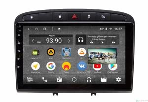 Штатная магнитола Parafar с IPS матрицей для Peugeot 308 и 408 2010-2017 черная на Android 8.1.0 (PF081K-B)