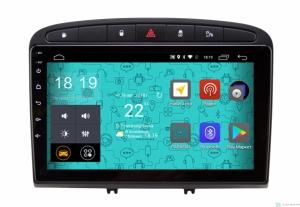 Штатная магнитола Parafar с IPS матрицей для Peugeot 308 и 408 черная на Android 6.0 (PF081Lite-B)