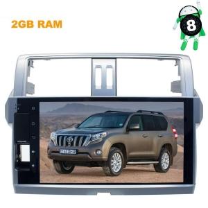 Штатная магнитола Toyota Prado 150 с 2013 до 2017 года LeTrun 2780 экран 10 дюймов Android 8.x