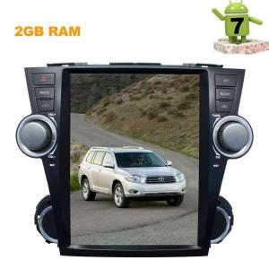 Штатная магнитола Toyota Highlander 2007-2013 LeTrun 2747 ZF экран 12 дюймов Android 7.x Tesla