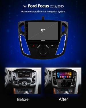Штатное головное устройство Android 6.0 Carmedia OL-9202 Ford Focus 3