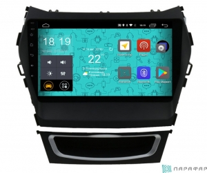 Штатная магнитола Parafar с IPS матрицей для Hyundai Santa Fe 3 2012+ на Android 6.0 (PF209Lite)