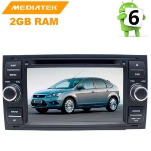 Штатное головное устройство Ford Focus 2, Fusion, Kuga, C-MAX цвет черный LeTrun 2606 KD Android 8.x MTK 4G