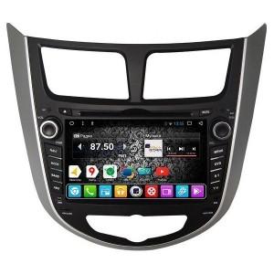 Штатное головное устройство DAYSTAR DS-7011HD Hyundai Solaris  ANDROID 8.1.0
