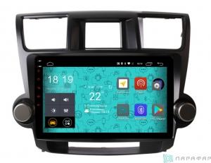 Штатная магнитола Parafar 4G/LTE с IPS матрицей для Toyota Highlander 2007-2012 на Android 7.1.1 (PF035)