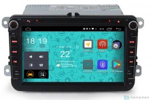 """Штатная магнитола Parafar 4G/LTE для VW, Skoda, Seat (универсальная с кнопками) экран 8"""" с DVD на Android 7.1.1 (PF904D)"""