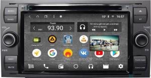 Штатная магнитола Parafar с IPS матрицей с DVD для Ford Kuga, Fusion, C-Max, Galaxy, Focus c DVD (универсальная) черная на Android 7.1.2 (PF149K)