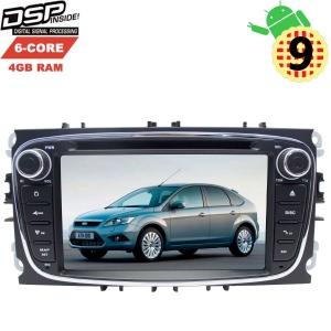 Штатная магнитола 2DIN Ford Focus 2 Mondeo 4 (овал) цвет черный LeTrun 2819 GS Android 9.x DSP 6 ядер 4gb