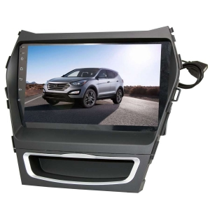 Штатная магнитола для Hyundai Santa Fe, IX45 13+ LeTrun 2079-2977 9 дюймов VT Android 8.x MTK-L 1+16 Gb