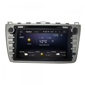 Штатное головное устройство для MAZDA 6 2007-2012 на Android 8.0 Carmedia KDO-8001 серый