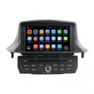 Штатное головное устройство для RENAULT Megane III 2009+, Fluence 2010+ черный привод на Android 8.0 Carmedia KDO-7237