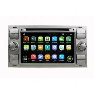Штатное головное устройство для Ford Focus 2 2005-2007, Transit 2006-2015, C-Max 2003-2010, Fusion 2005-2012 на Android 8.0 Carmedia KDO-7016-b (квадрат)
