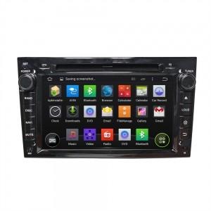 Штатное головное устройство для OPEL Astra H, Vectra С, Corsa D, Antara, Vivaro, Meriva, Zafira (черный лак) на Android 8.0 Carmedia KDO-7408-b