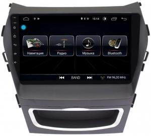 Автомагнитола Letrun Hyundai Santa Fe 2013-2019 4G+64G 9 дюймов с 4G LTE Sim