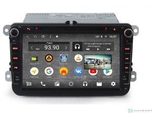 Штатная магнитола Parafar с IPS матрицей для VW, Skoda, Seat (универсальная с кнопками) с DVD на Android 8.1.0 (PF904KDVDDSP)
